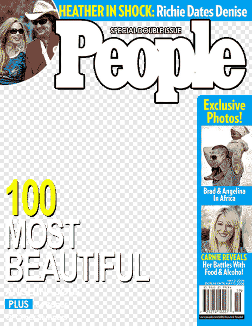 People Magazine Cover Template