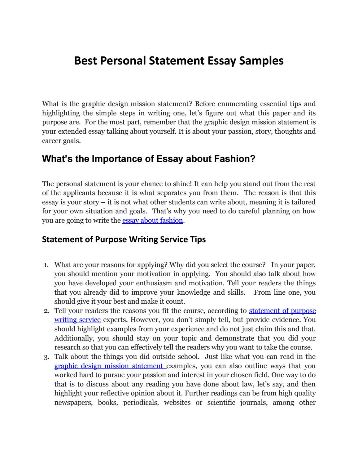 Personal Mission Statement Template