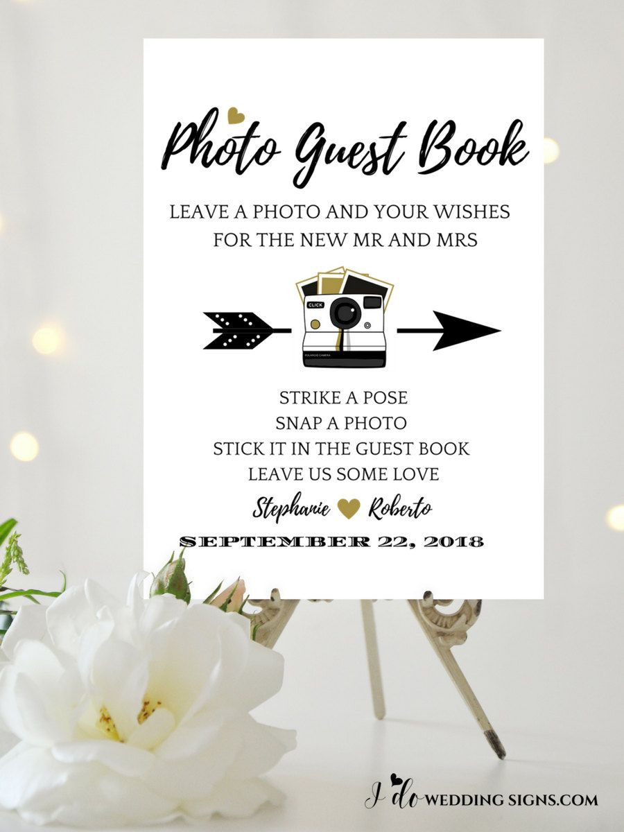 guest book wedding sign template for your alternative