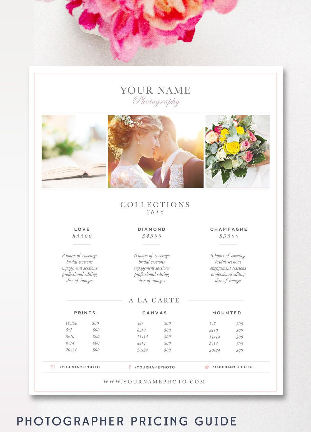 Photography Price Sheet Template