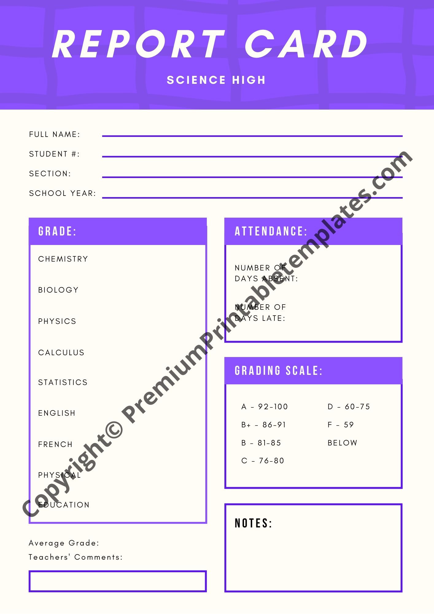 Plate Sale Ticket Template