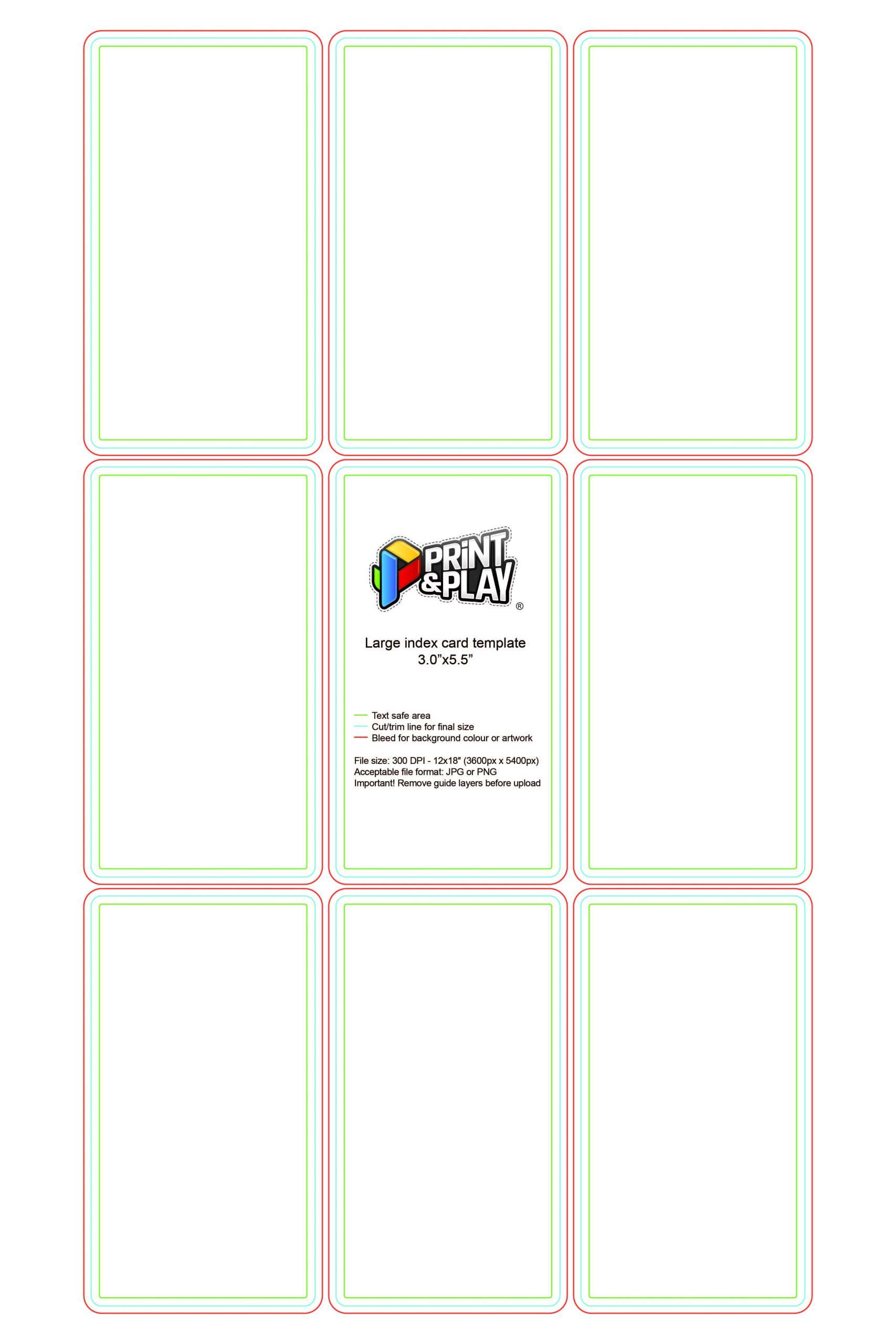 Playing Card Template Photoshop