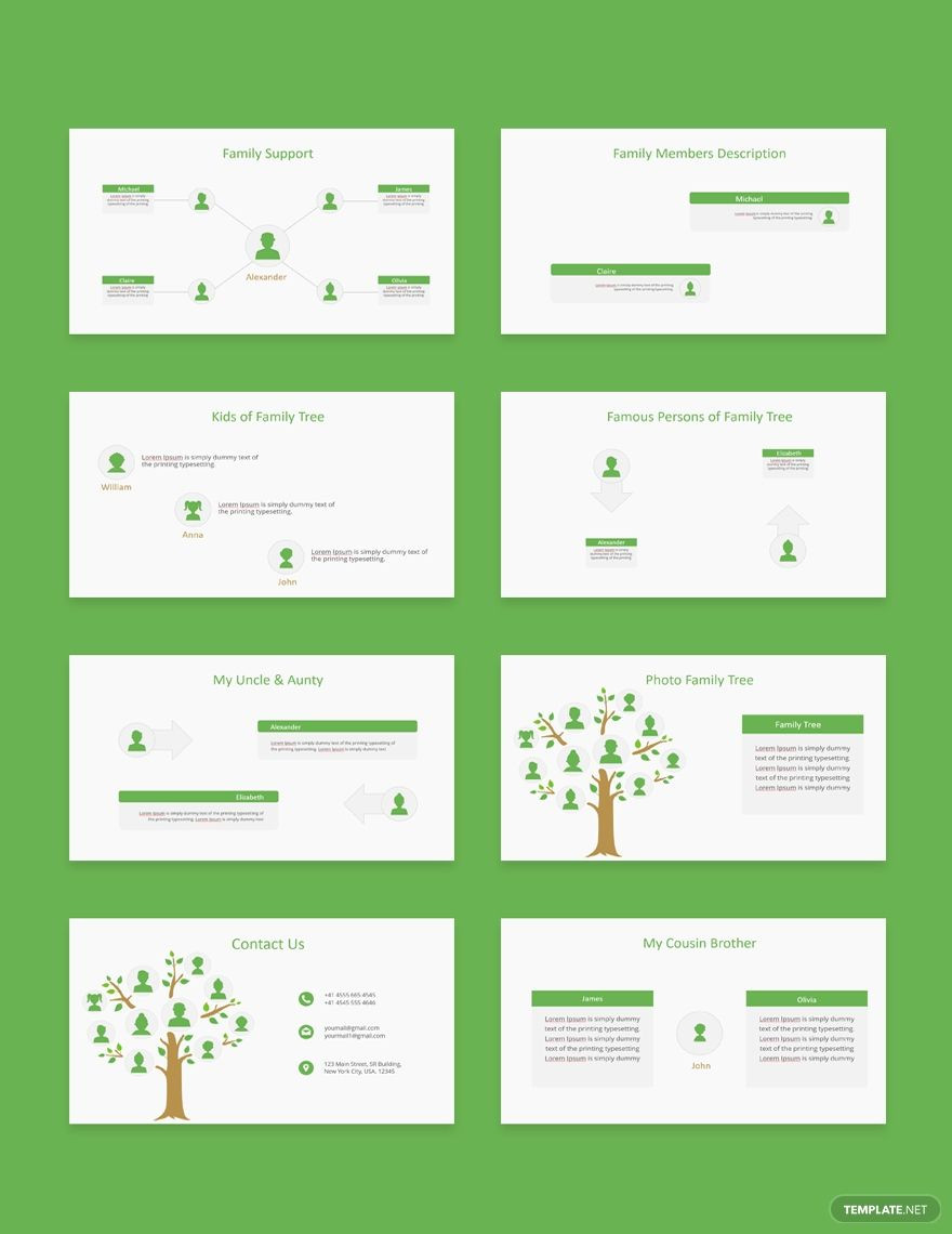 Free Family Tree Powerpoint Presentation Template AD