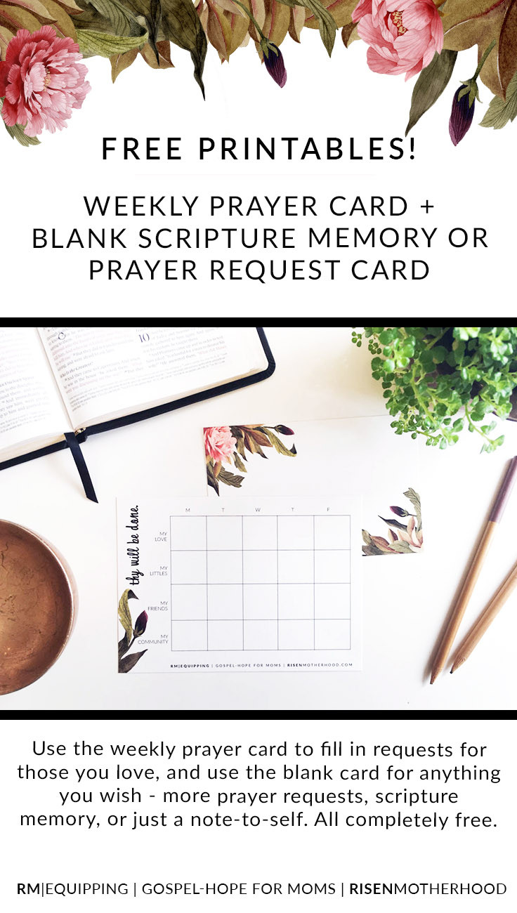 Prayer Request Cards Template