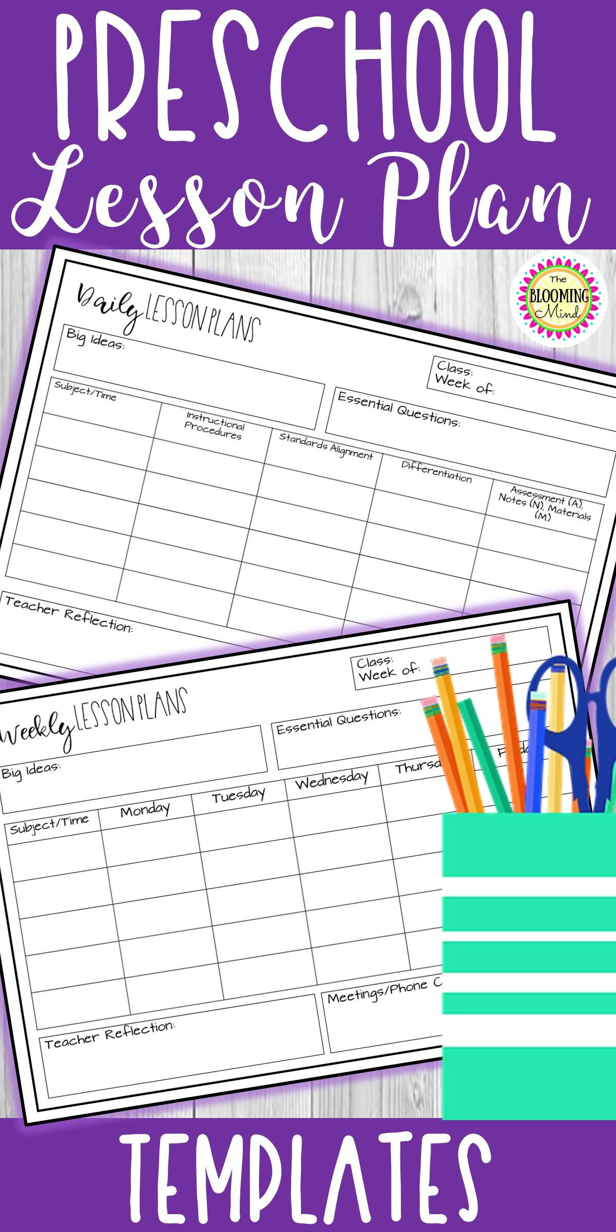 Prek Lesson Plan Template