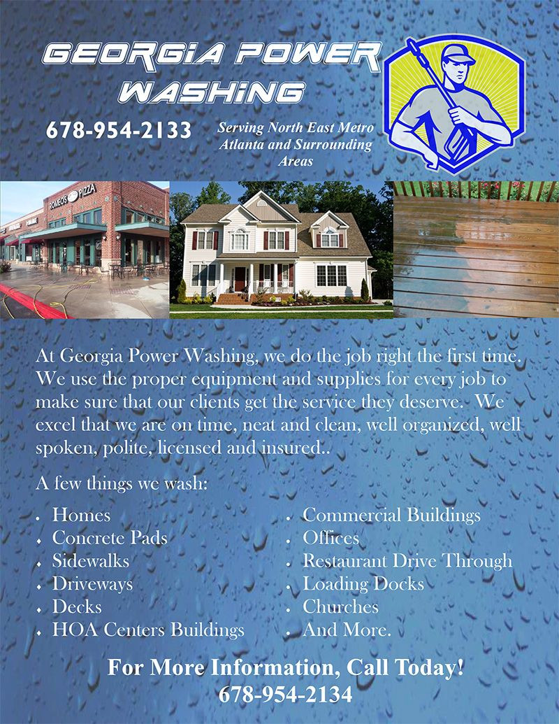 You too can use these pressure washing templates for flyers