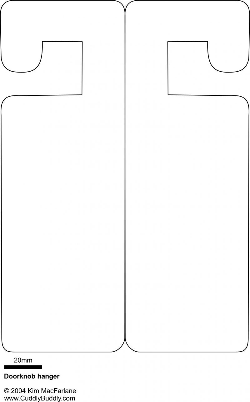 Printable Door Hanger Template
