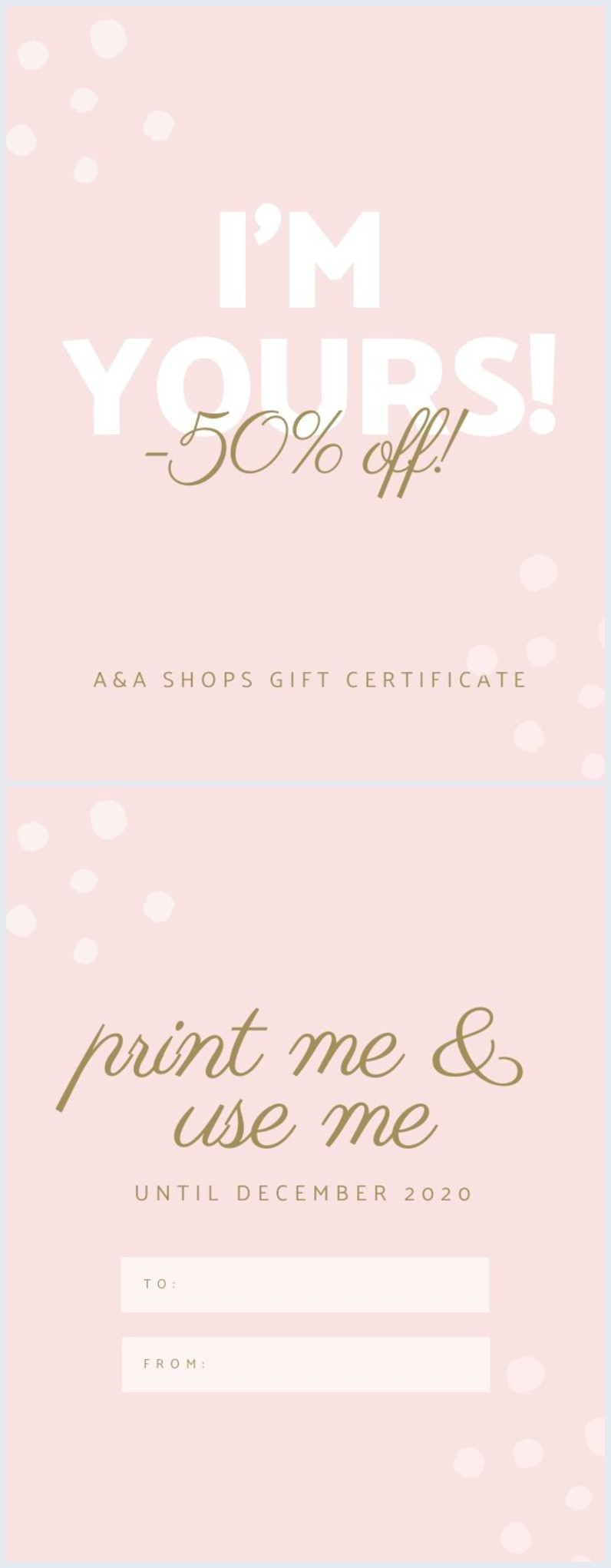 Printable Gift Certificate Template