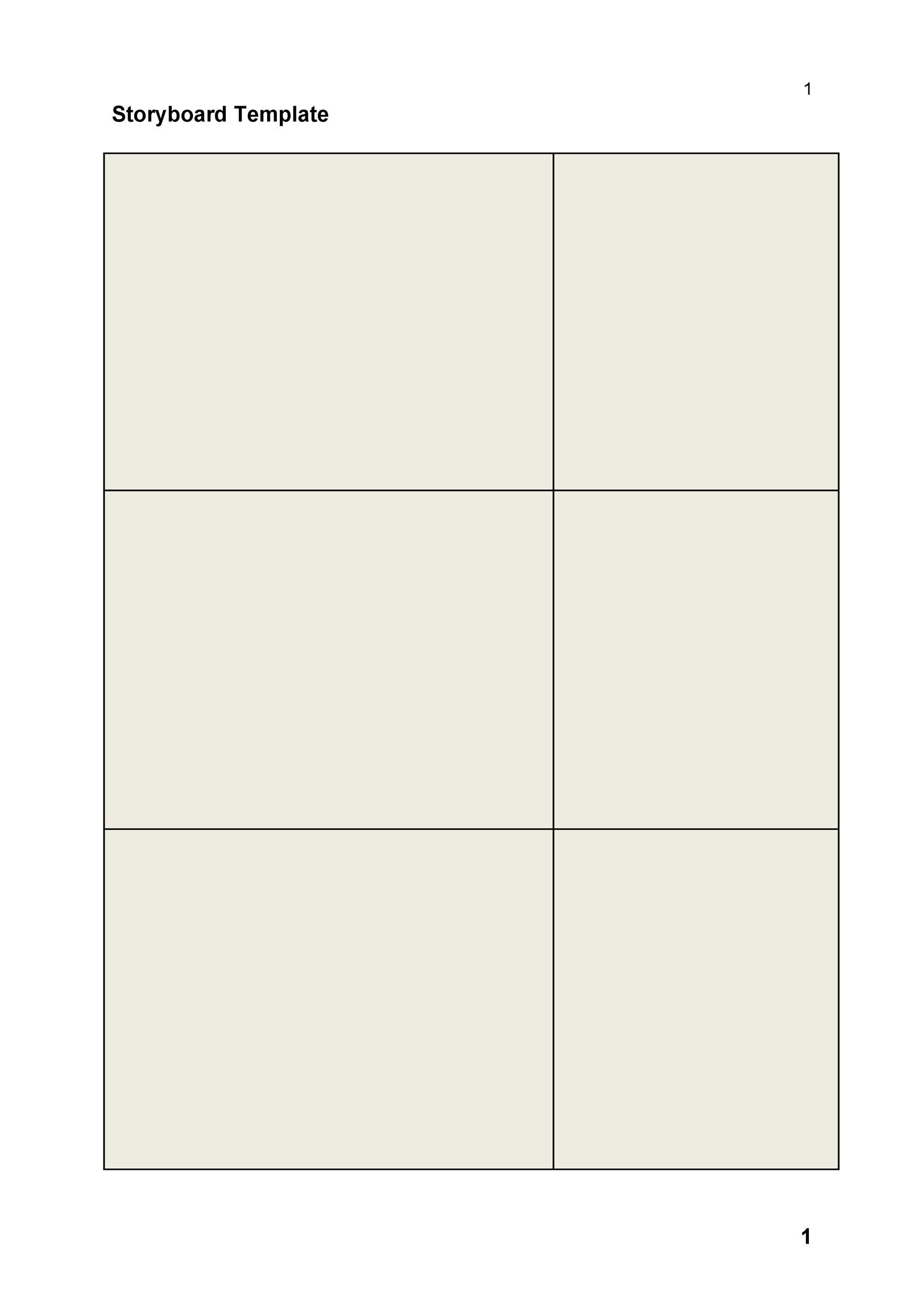 Professional Film Storyboard Template