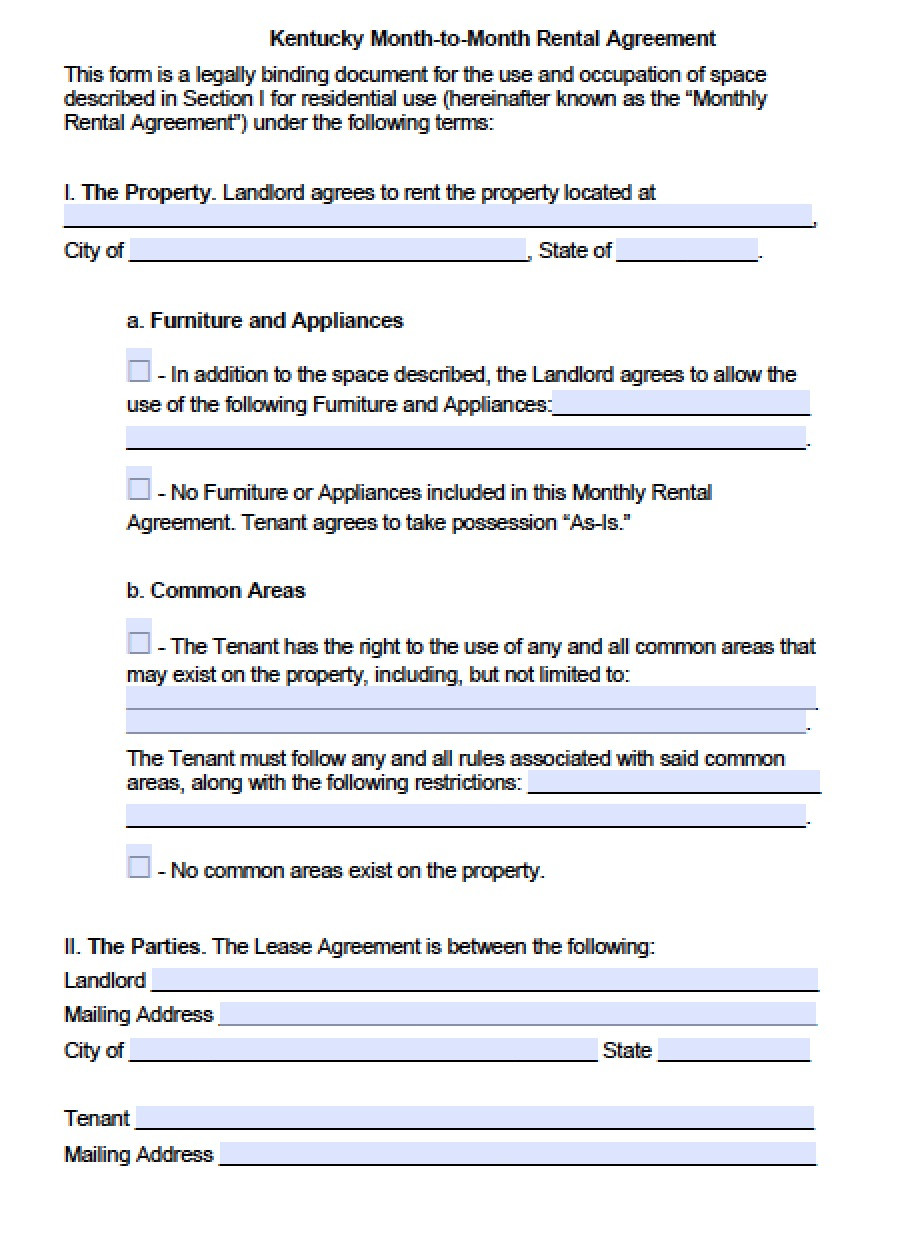 Rental Agreement Template Free