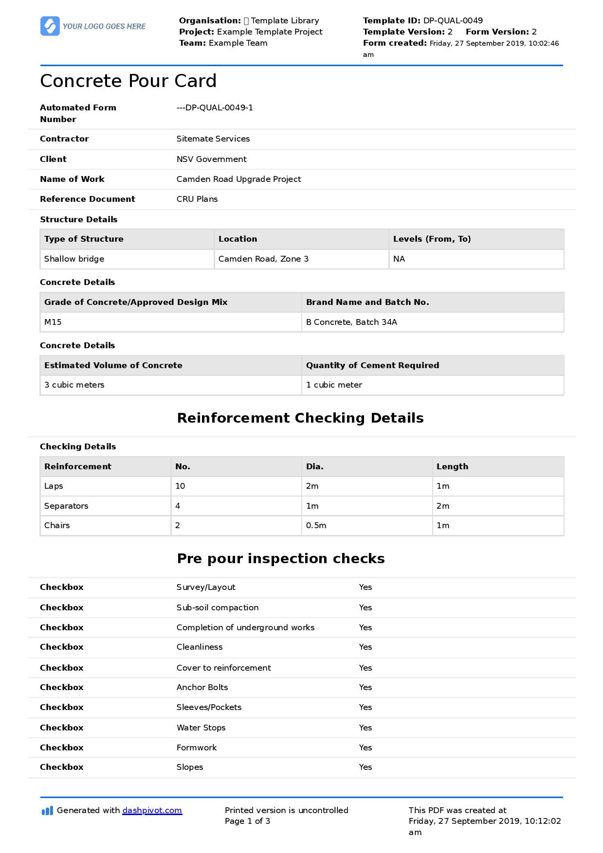 Report Card Template Pdf