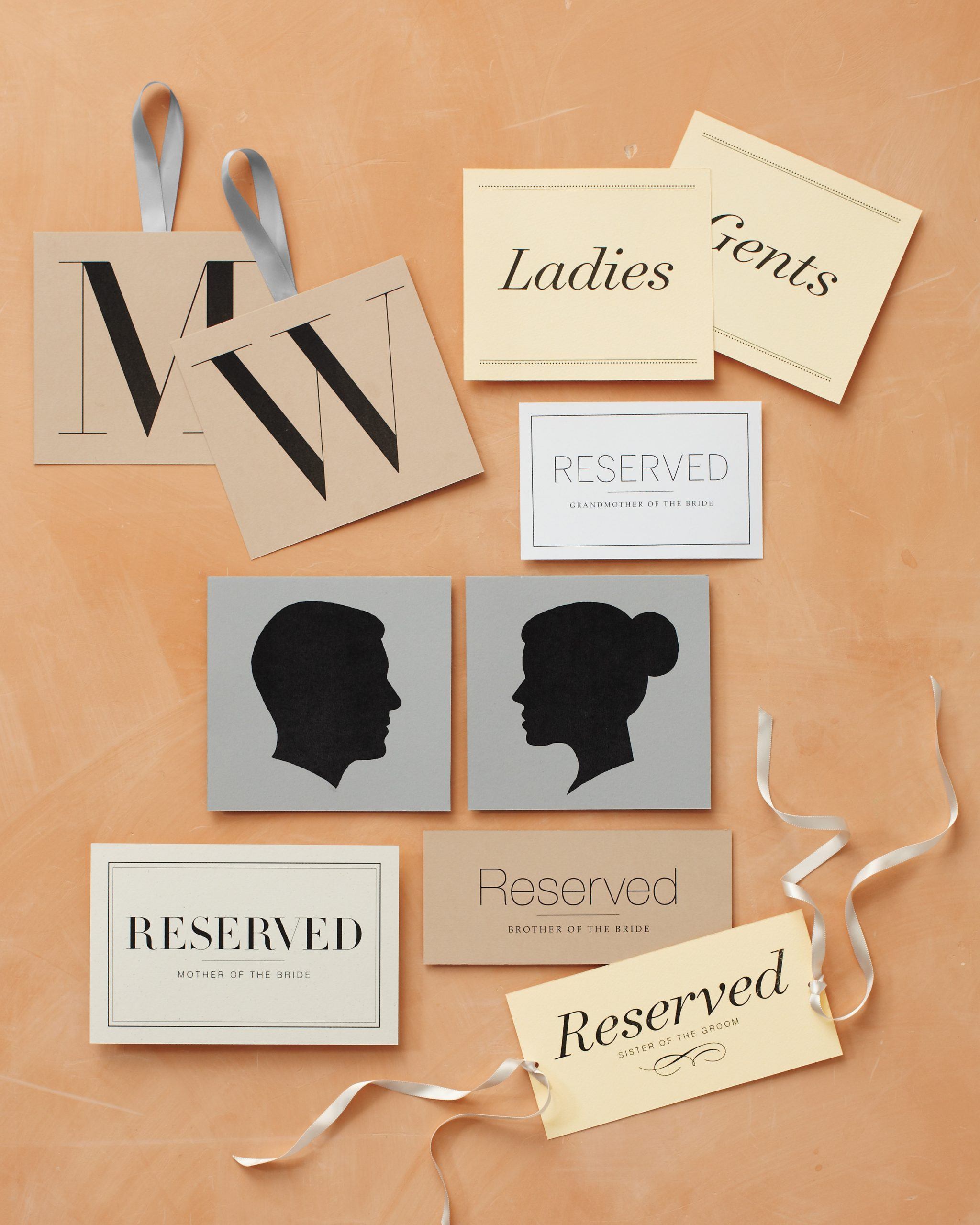 Reserved Seating Signs Template