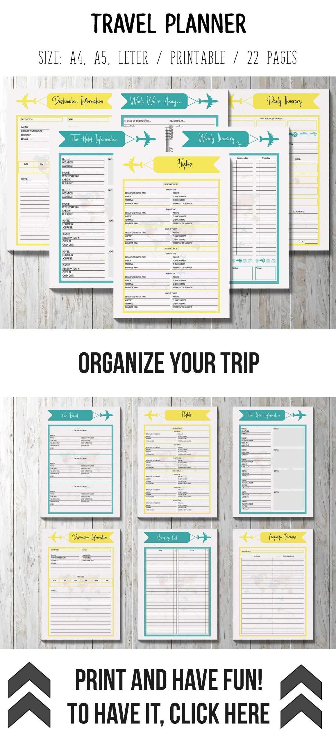 Road Trip Planner Template