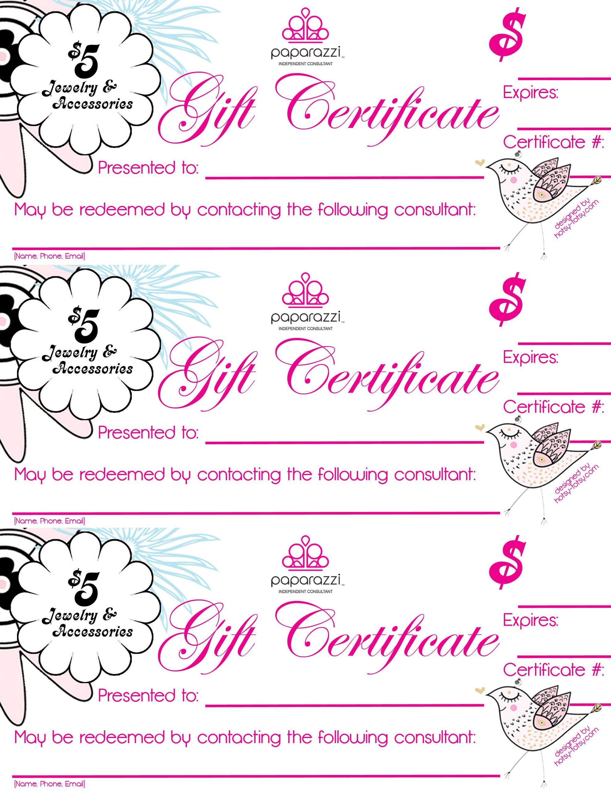 Scentsy Gift Certificate Template