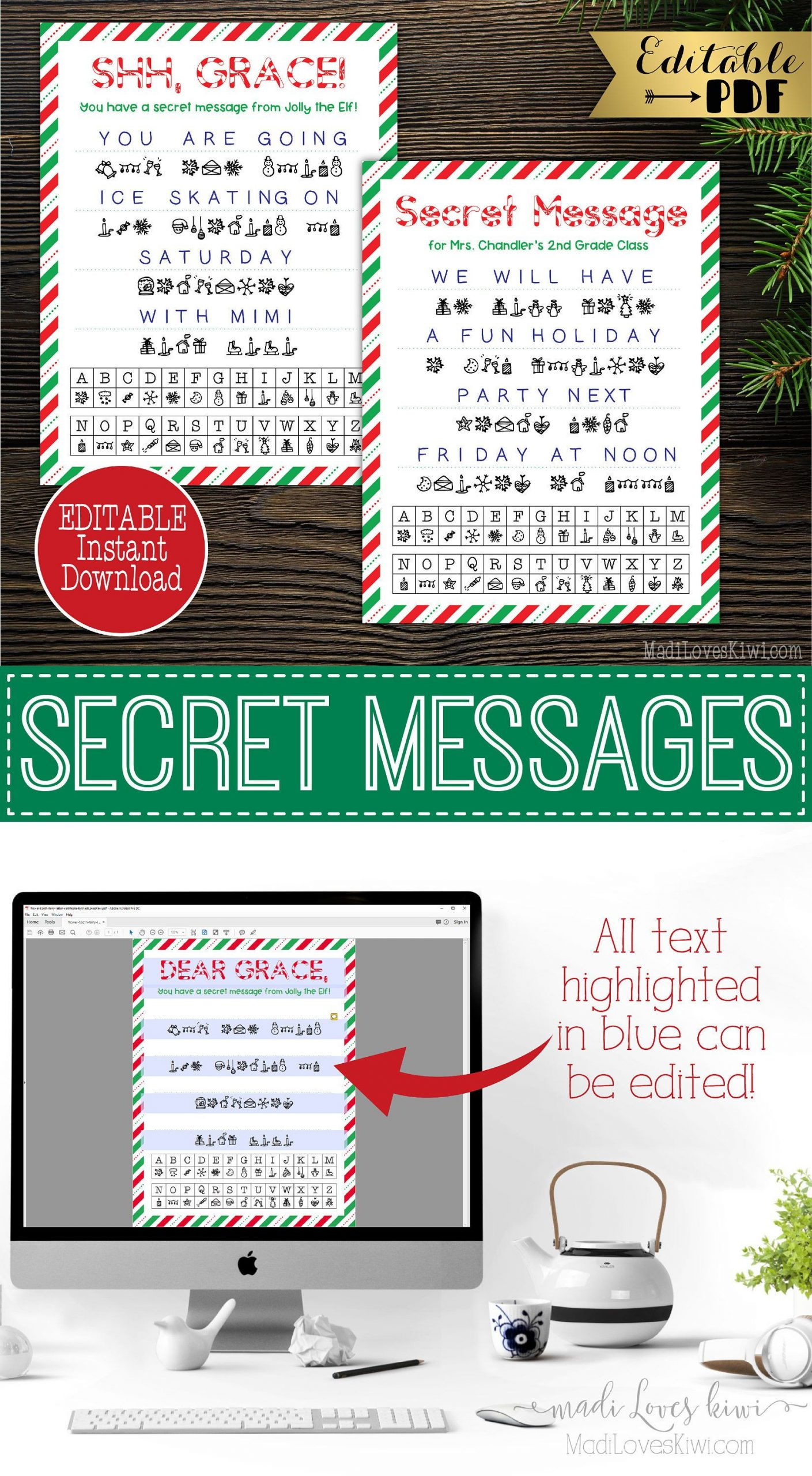 Secret Santa Email Template