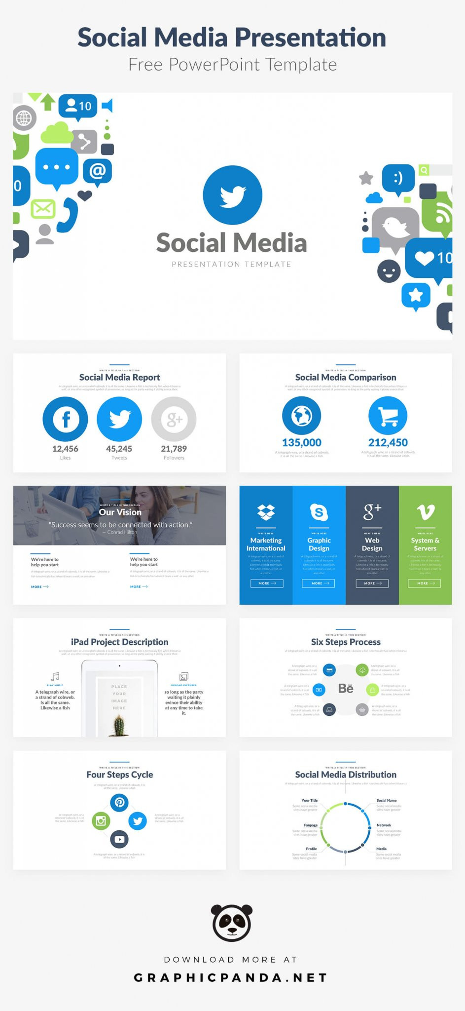 10 Free Social Media Slides Templates for Microsoft PowerPoint