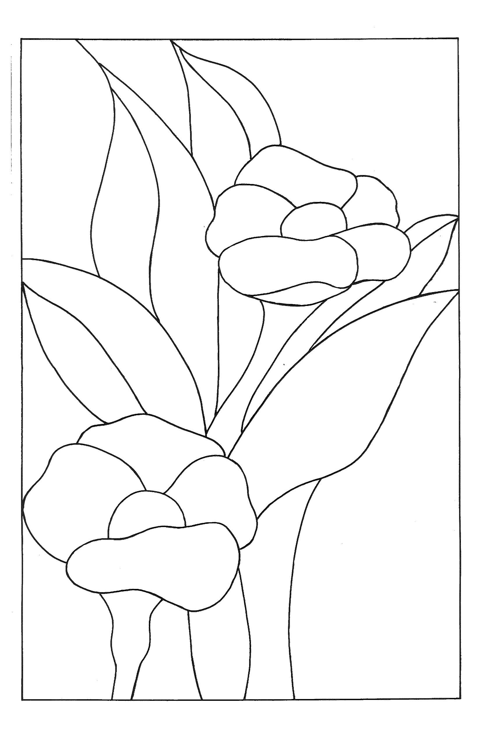 Stain Glass Window Template