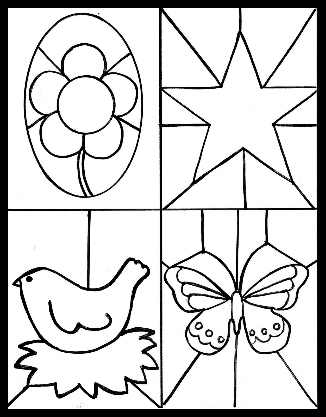Stained Glass Windows Template