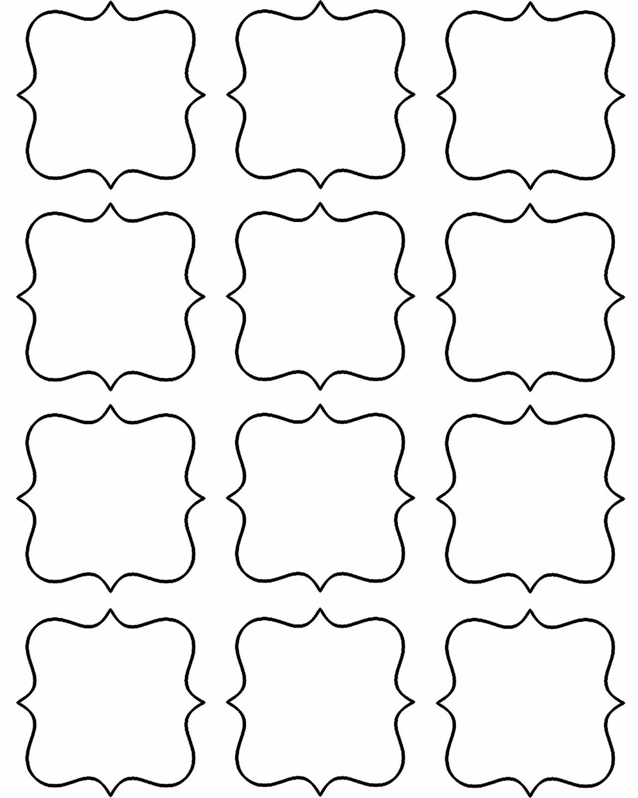 Template for Gift Tags