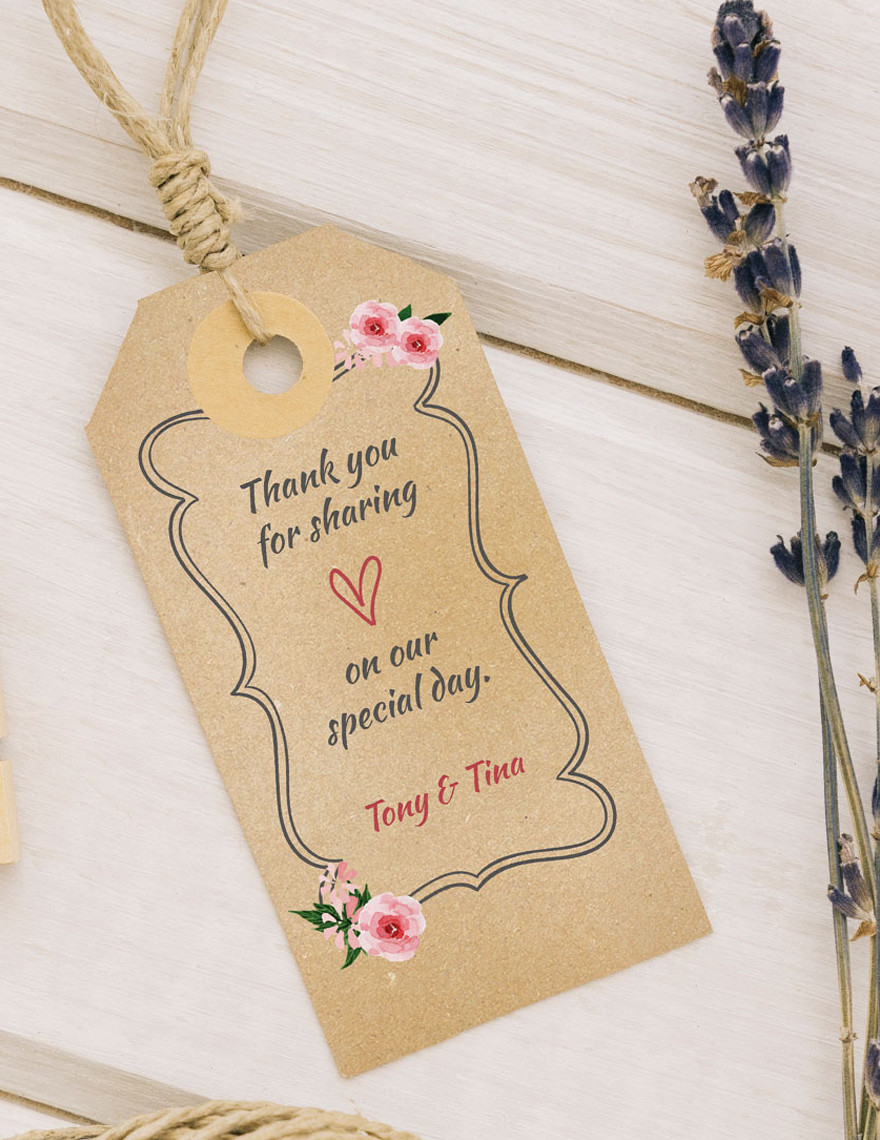 Thank You Labels Template