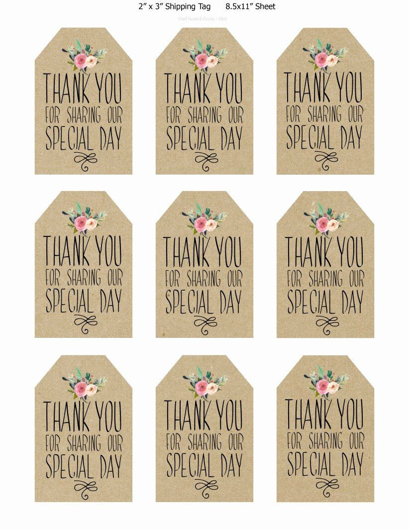 40 Printable Thank You Tags in 2020