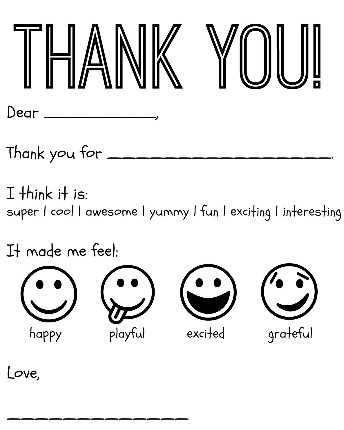 Thank You Postcard Template