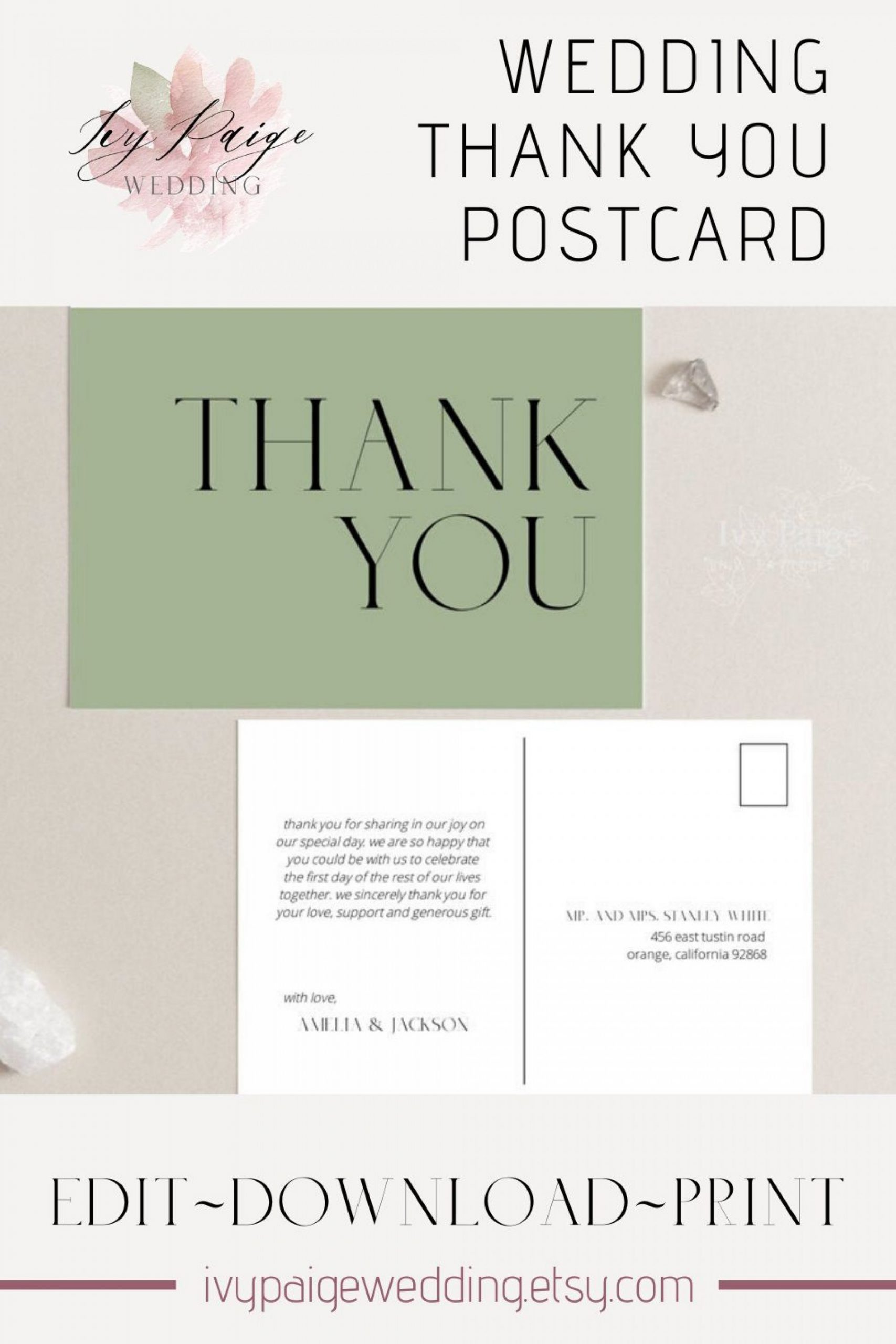 Thank You Postcard Template Addictionary