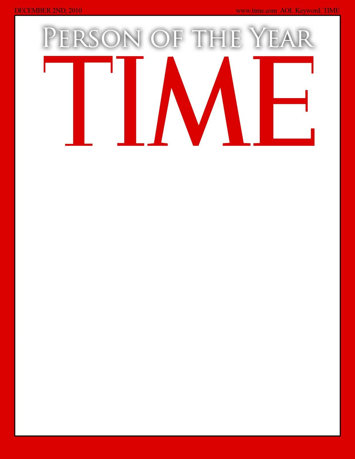 Time Magazine Covers Template
