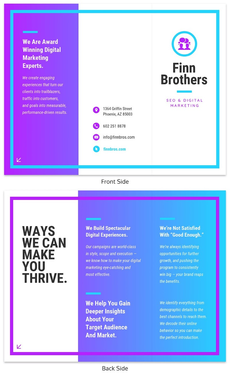 Tri Fold Poster Template