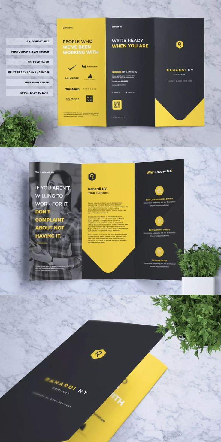 Corporate Business Trifold Flyer Template AI EPS AI
