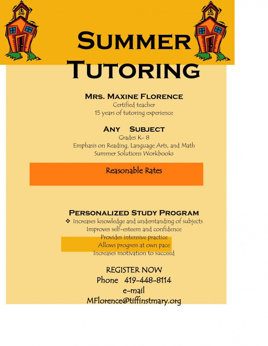 Tutoring Flyer Template Free