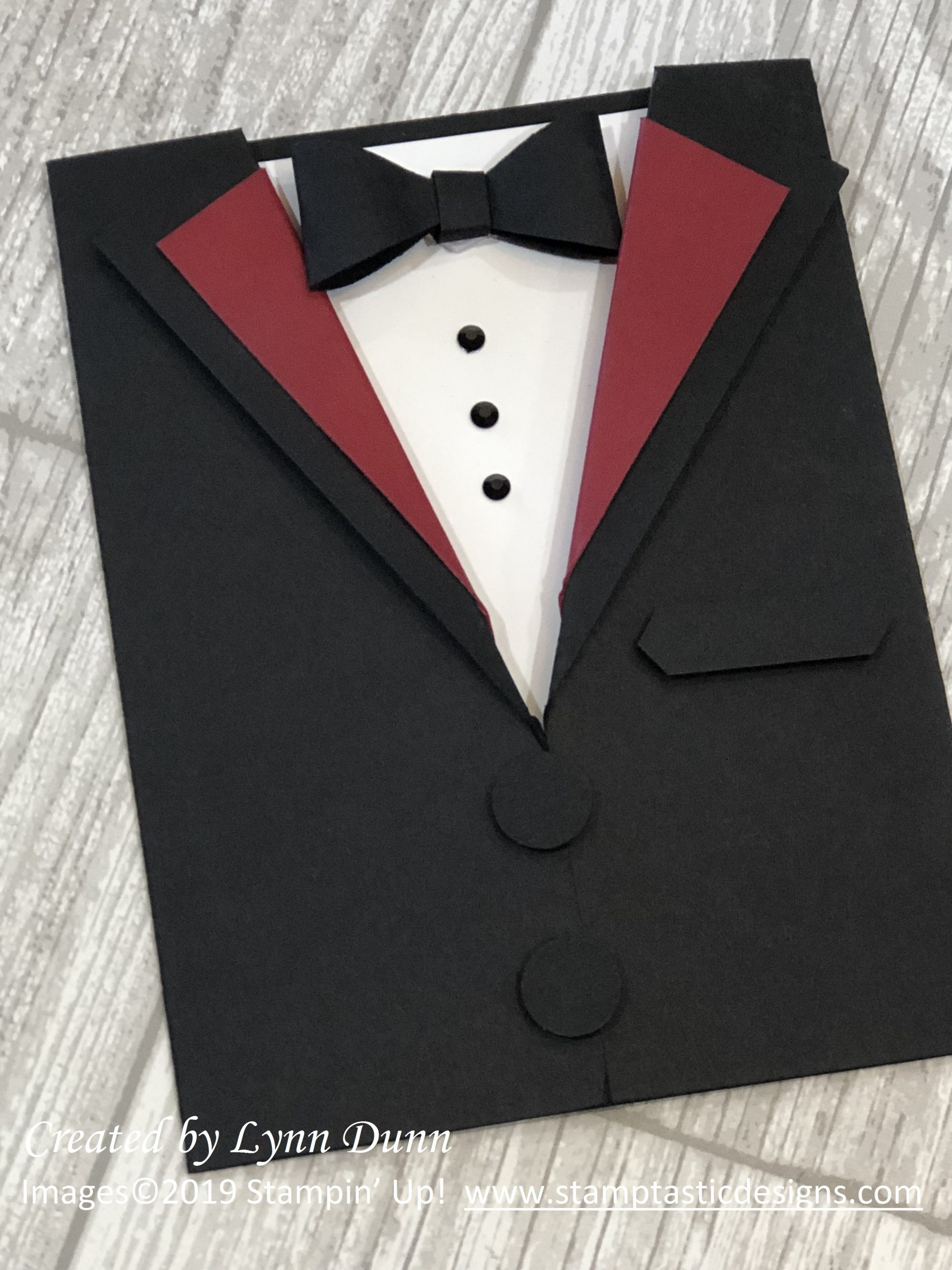 Tuxedo Template Card Making