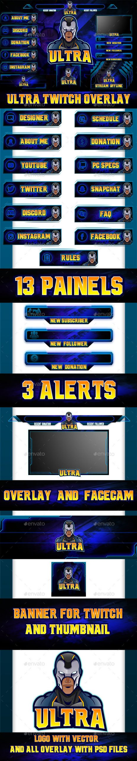 Twitch Profile Banner Template