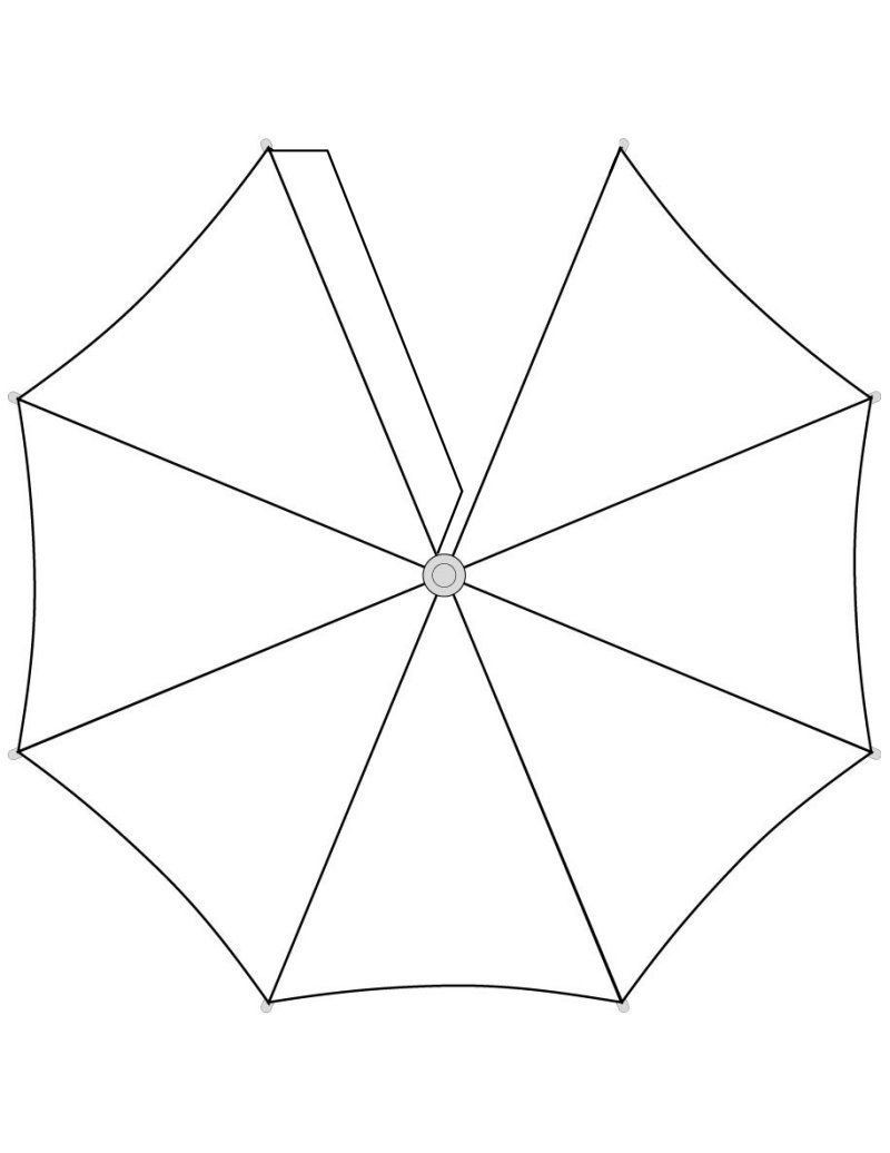 Umbrella Template for Preschool