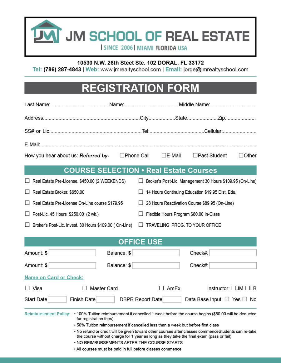 Vbs Registration forms Template