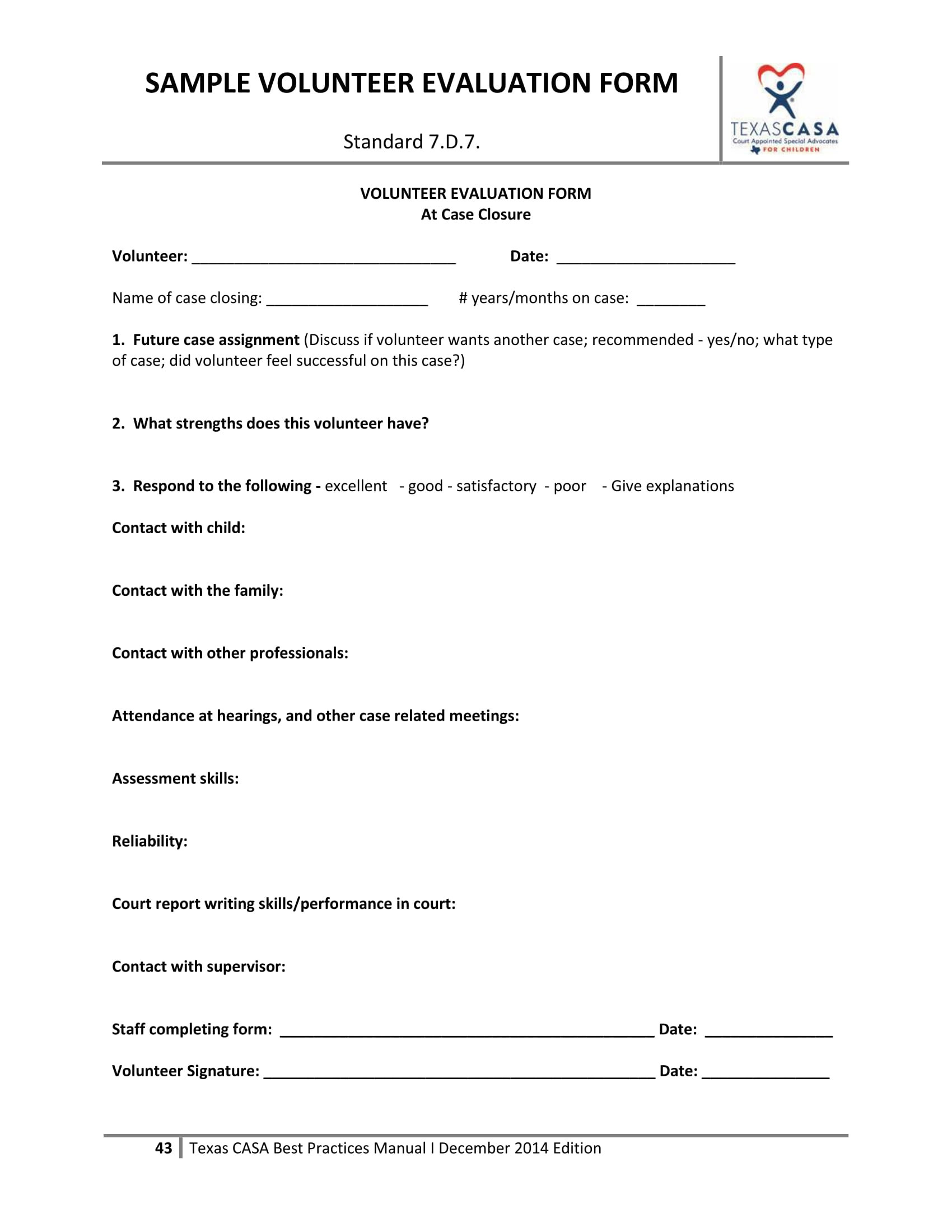 Volunteer Hour forms Template