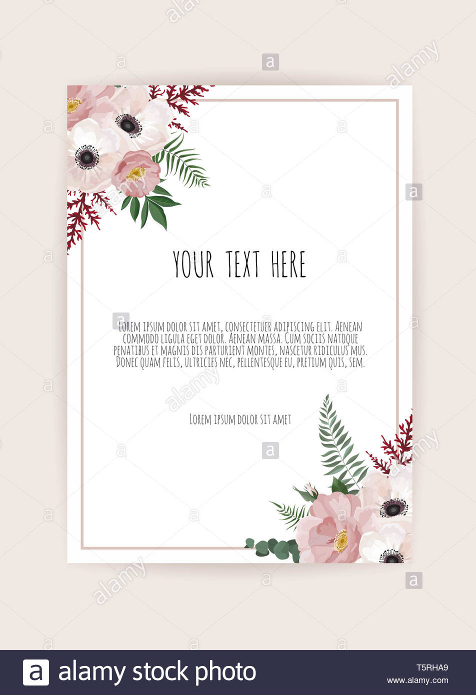 Wedding Information Cards Template