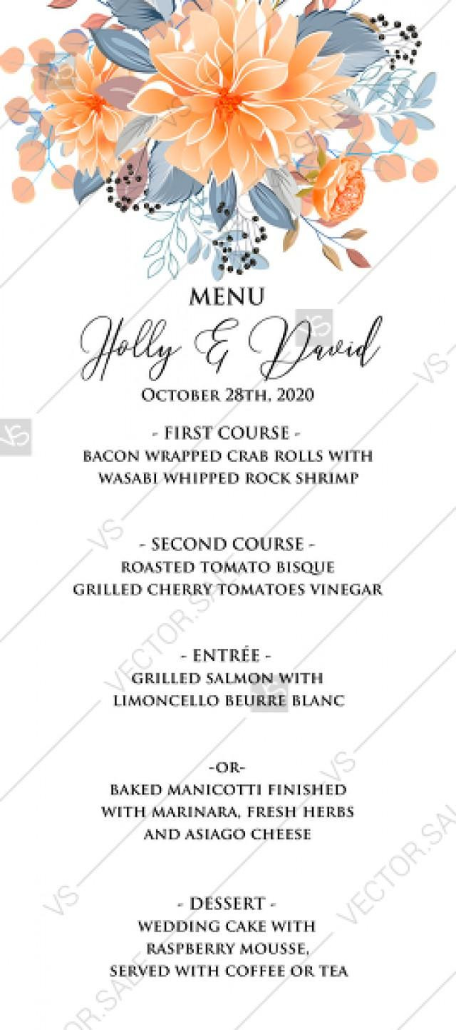 Wedding Menu Cards Template