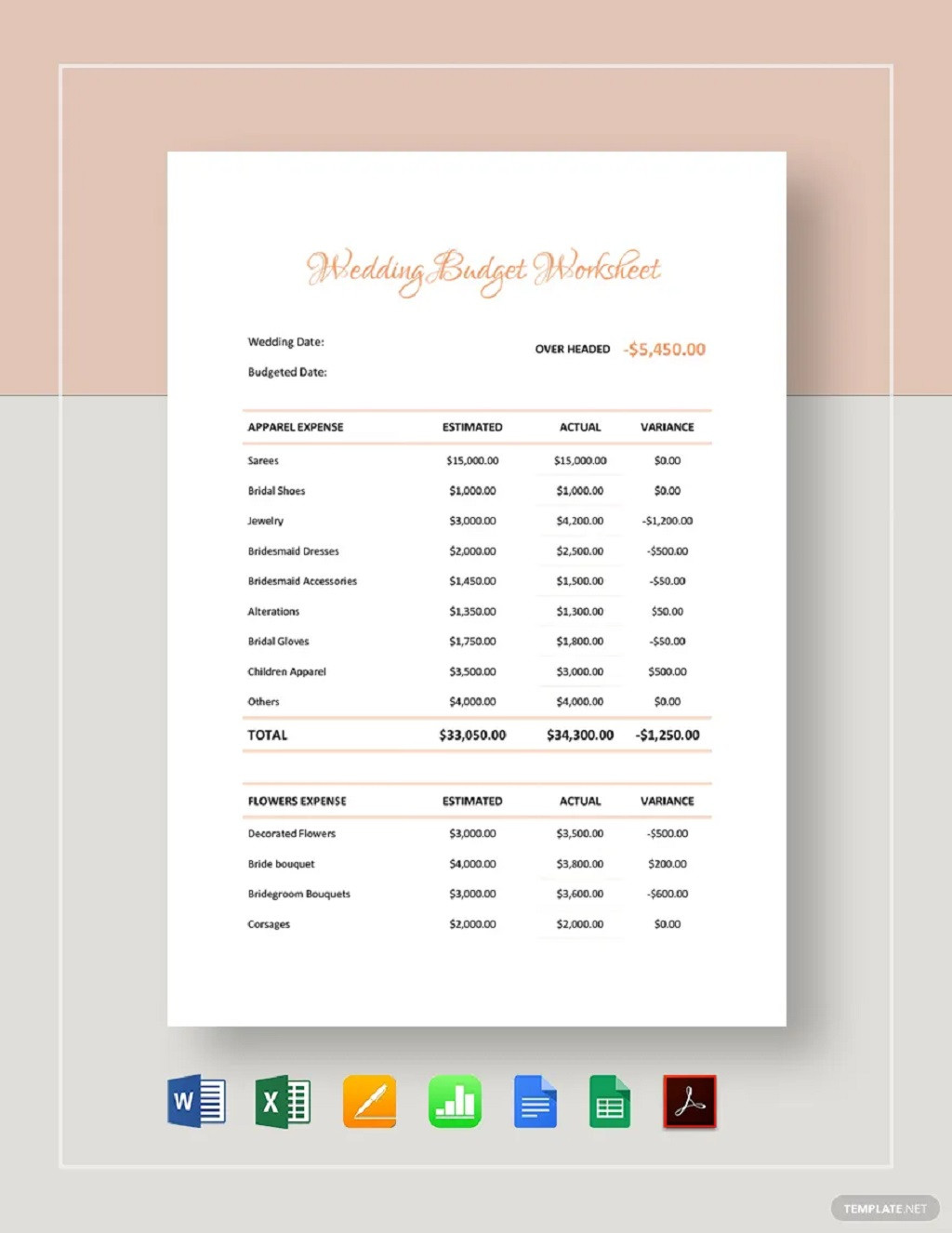 Wedding Party Lineup Template