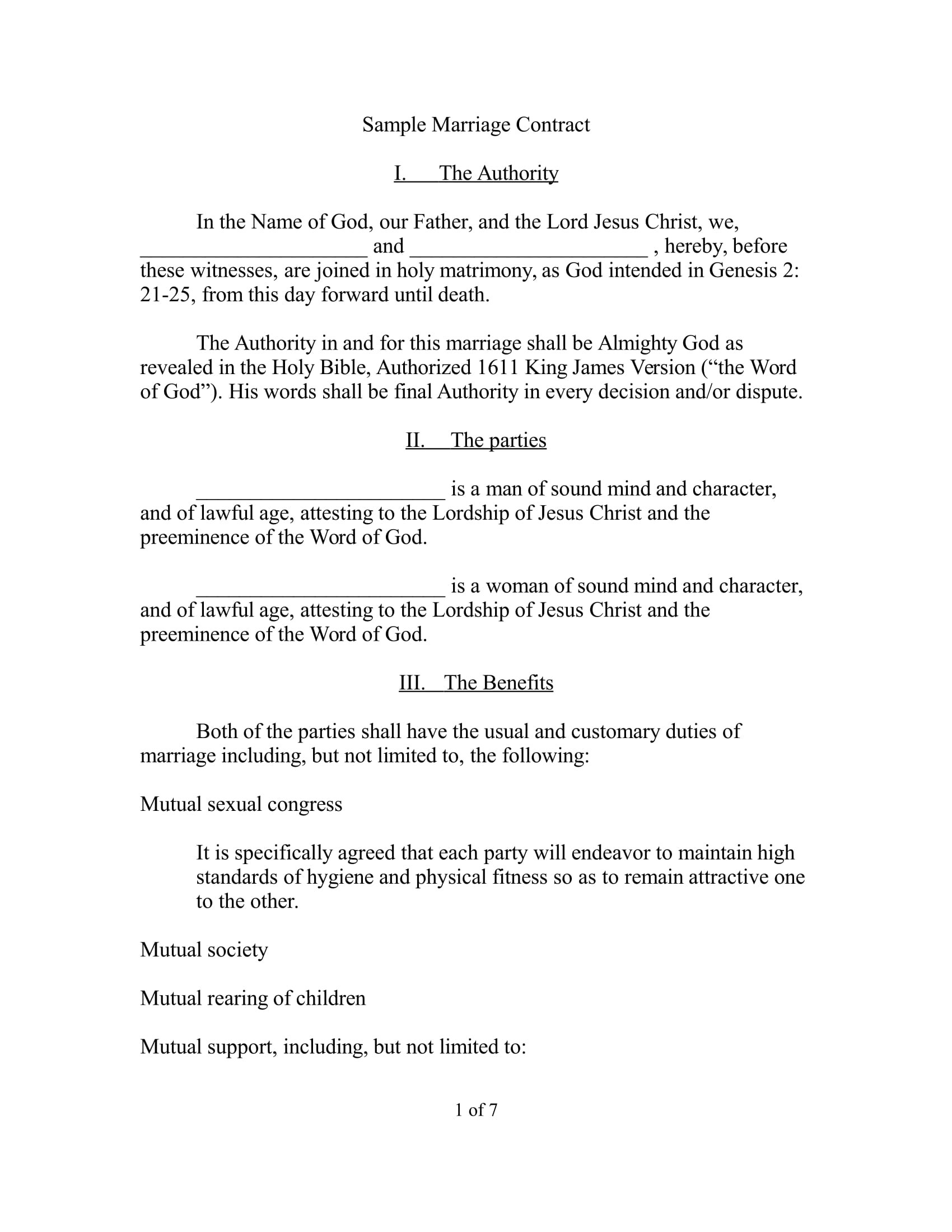 Wedding Planners Contract Template