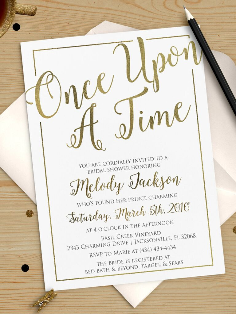 Wedding Shower Invitations Template
