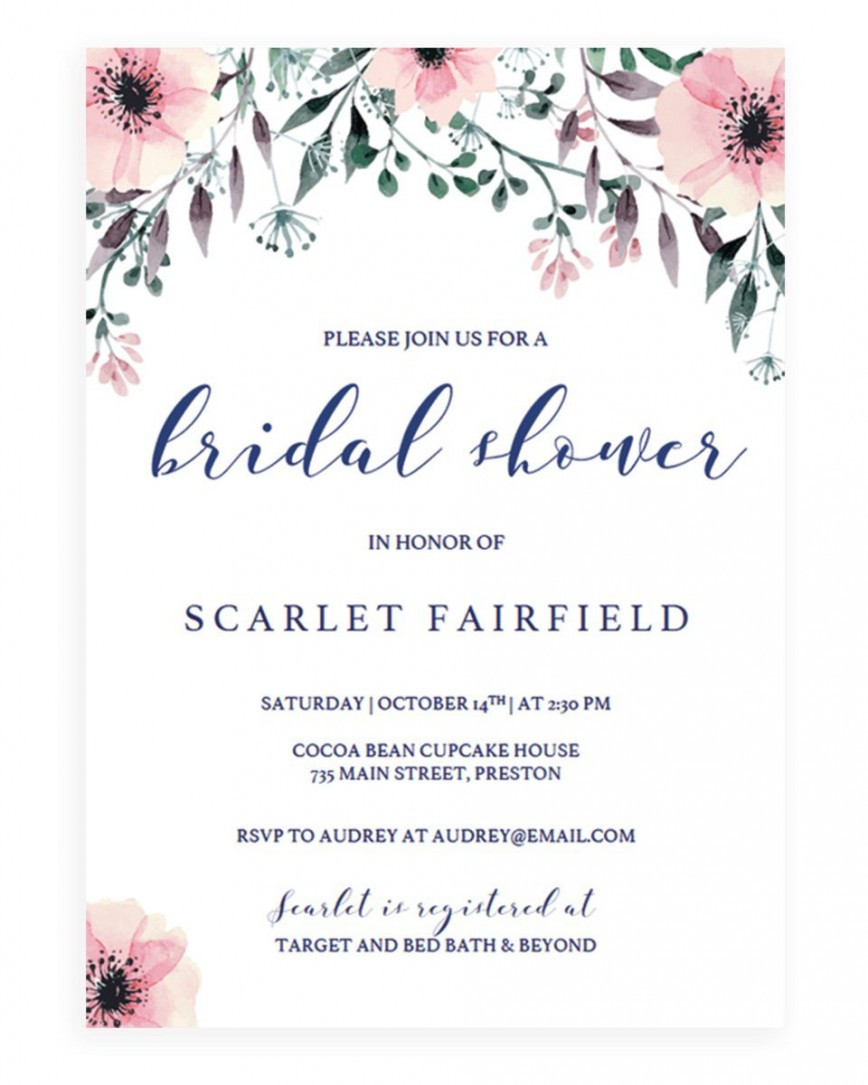Wedding Shower Invite Template