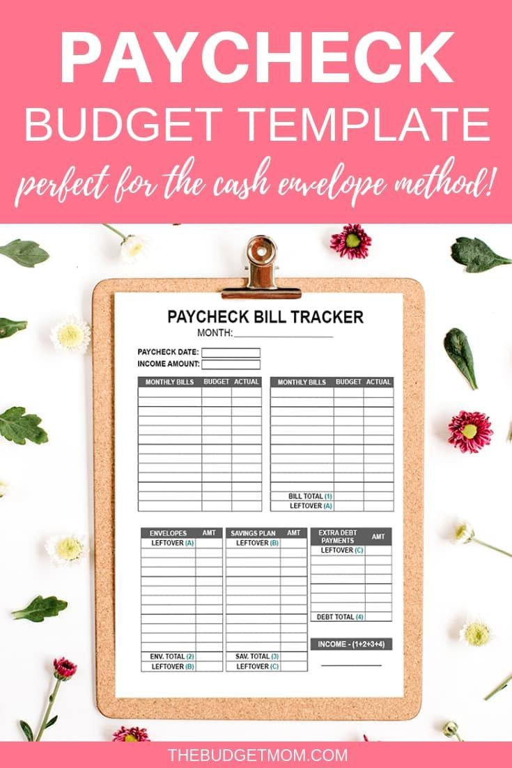 Weekly Paycheck Budget Template