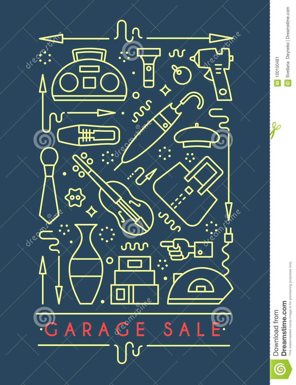 Yard Sale Sign Template