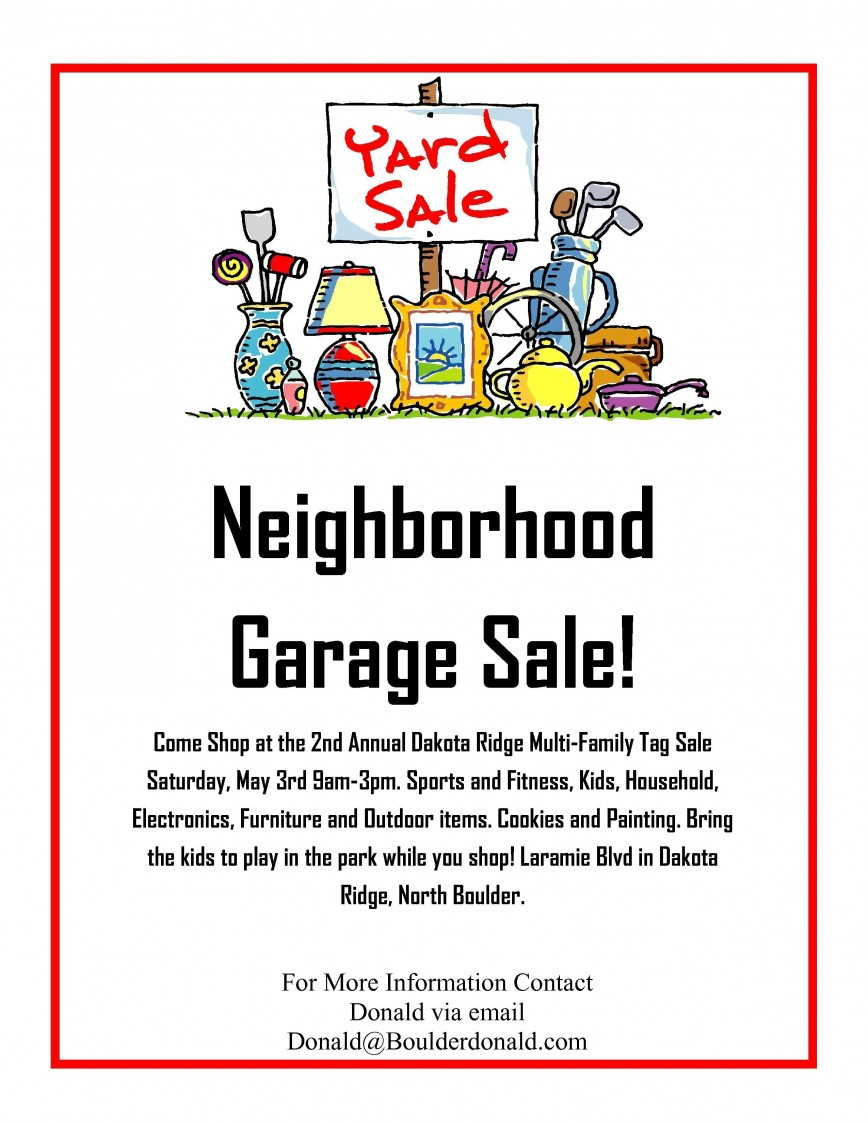 Yard Sale Sign Templates Addictionary