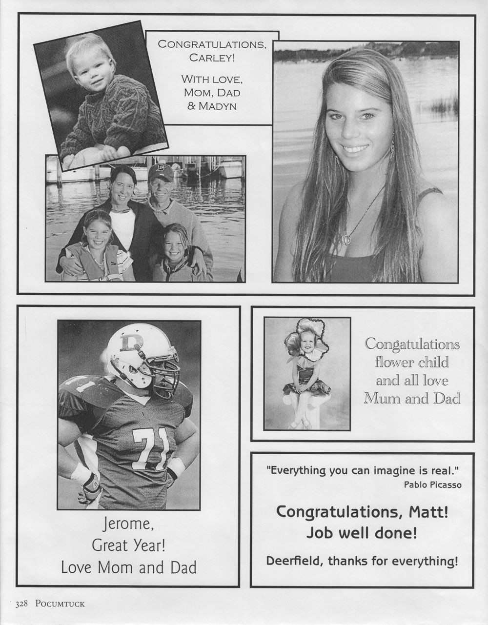 Yearbook Dedication Page Template