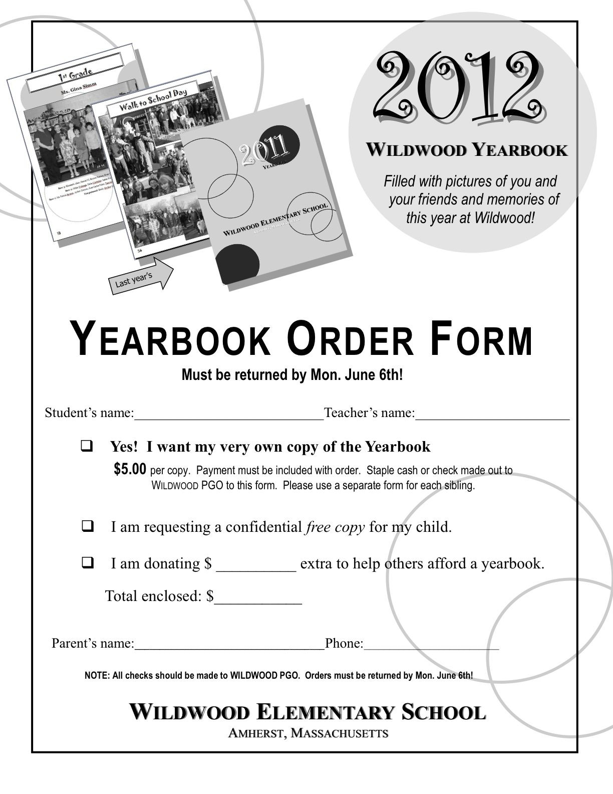 yearbook order form template Google Search
