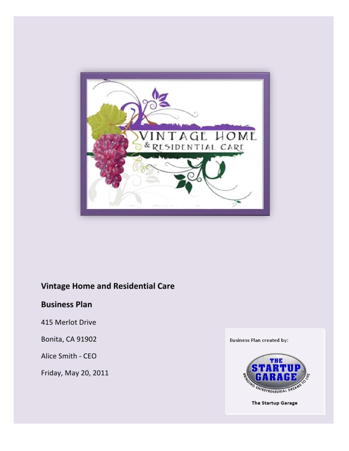 Assisted Living Menu Template
