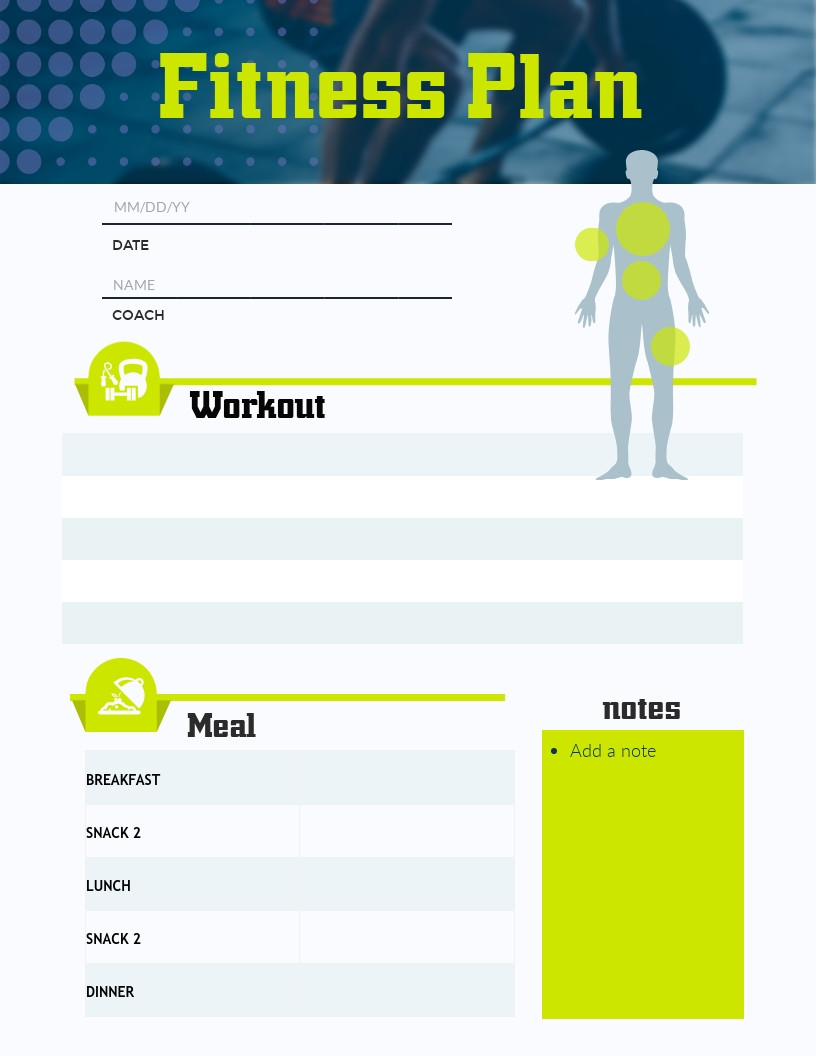 Athlete Profile Template Free