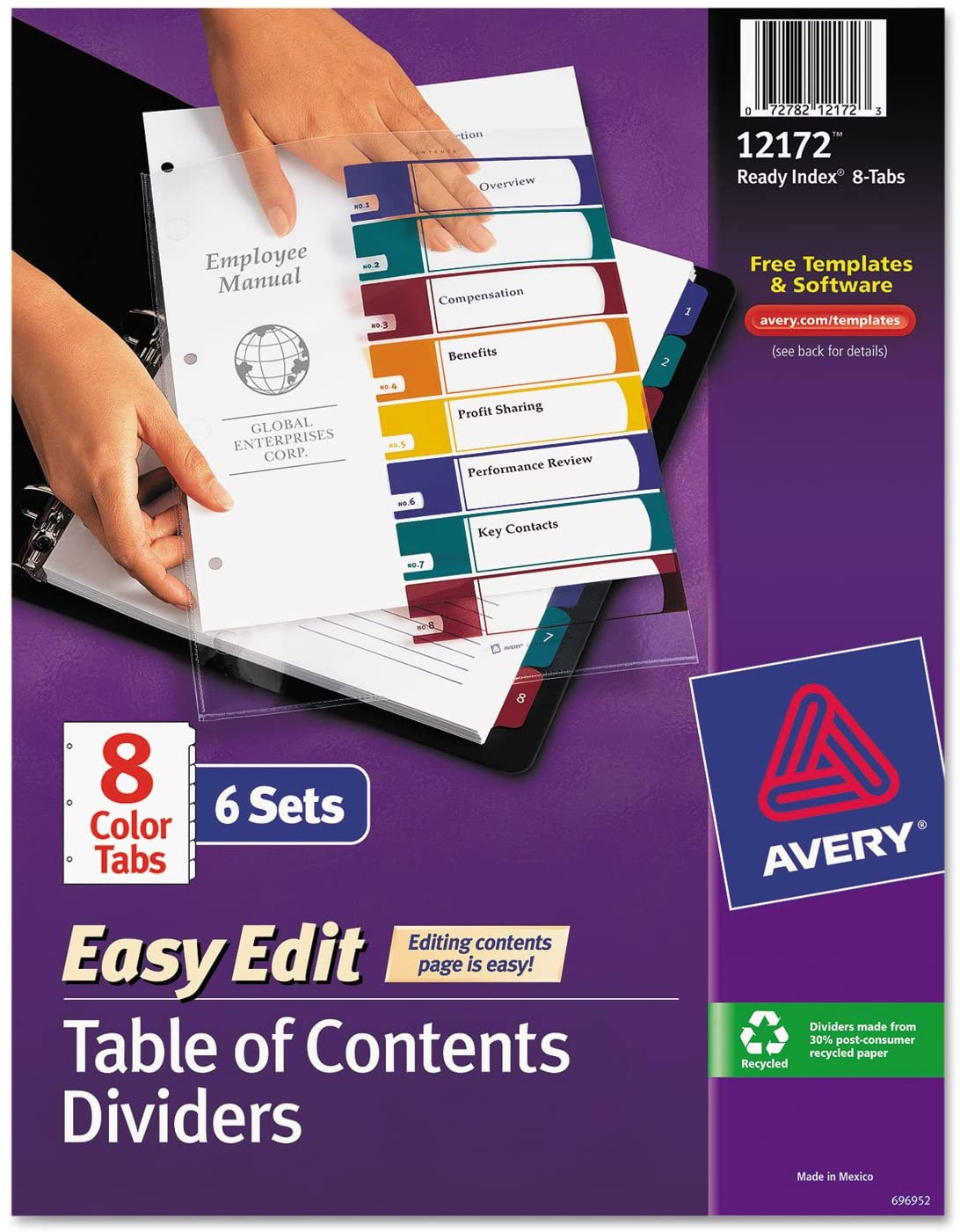 Avery Ready Index Template